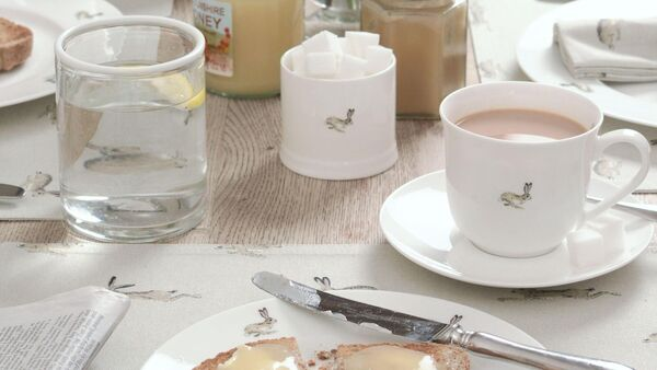 Lovely tablewares like the Hare Collection which are a combination of refined but sturdy and practical are perfect for entertaining and also everyday use (cup and saucer €18 from www.sophieallport.com).