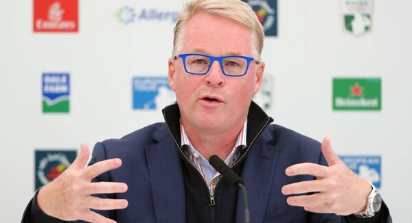 "European Tour chief executive Keith Pelley said spectators were not crucial to the bottom line, merely from the point of view of ""optics"". Photo: Niall Carson/PA"