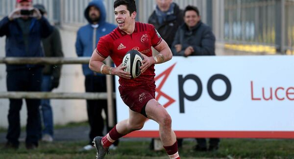 Alex Wootton will be bidding to recapture the heights of his breakthrough 2017-18 season, when he was a regular starter for Munster and finished the term as top-try-scorer on nine tries. Picture: INPHO/Giuseppe Fama