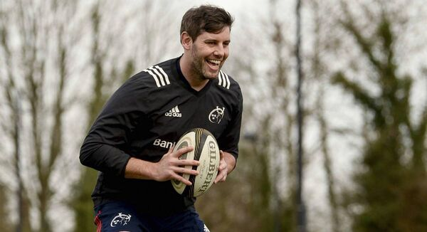 Dave O'Callaghan trains separate from team-mates during Munster Rugby squad training at the University of Limerick in Limerick. Picture: Diarmuid Greene/Sportsfile