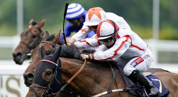 Scarlet Dragon and Hollie Doyle (white/red seams) wins the Duke of Edinburgh Stakes at Royal Ascot yesterday. Picture: Healy Racing