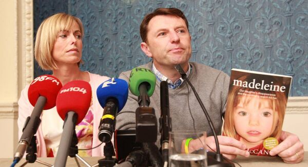 Kate and Gerry McCann, at a press conference in the Merrion Hotel in Dublin, to mark the publication of 'Madeleine; by Kate McCann. Photo: Leon Farrell/RollingNews.ie