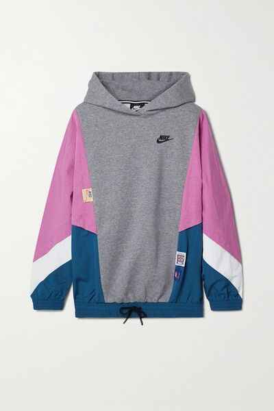 4. Nike 'Icon' Clash panelled cotton-blend fleece and shell hoodie, Net-a-Porter, €125.29