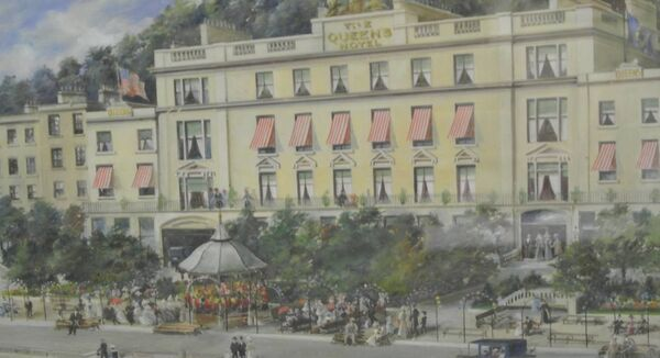 The Queen's Hotel, Queenstown, Ireland by Walter Richards at Woodward's online auction.