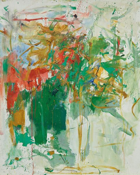 Joan Mitchell's 'Garden Party' sold for $7.8 million at Sotheby's.