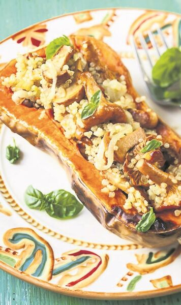 Michelle's Squash with Quinoa and Mushrooms