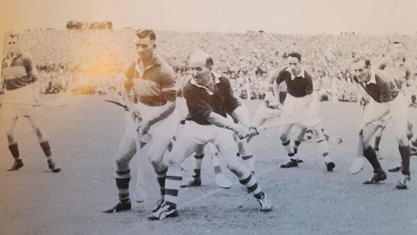 Theo English lines up for a throw-in with Cork's Christy Ring