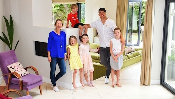 Donncha and Jenny O'Callaghan are selling their family home at No 4 Woodbury Boreenmanna Road in Cork. Pictures: Larry Cummins