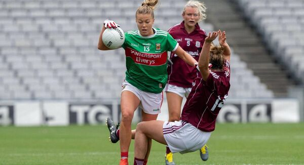 Sarah Rowe in action for Mayo in last year's All-Ireland semi-final loss to Galway. Picture: INPHO/Morgan Treacy
