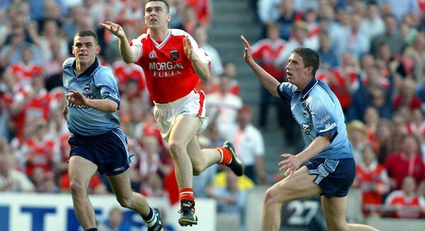 Oisin McConville scores Armagh's winning point against Dublin in 2002. Picture: INPHO/Tom Honan