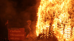 Twelfth of July: Crowds gather as bonfires lit amid coronavirus restrictions