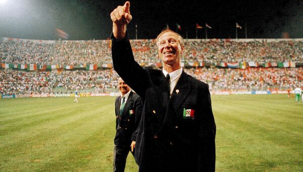 Jack Charlton after the FIFA World Cup 1990 Group F match between Republic of Ireland and Netherlands. Picture: Ray McManus/Sportsfile