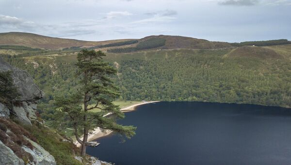 Lough Tay in Wicklow National Park. A popular option for the season camper.