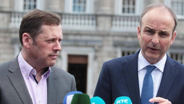 File Photo: Embattled Minister for Agriculture Barry Cowen with Taoiseach Micheal Martin, when offered the position of minister in the new Cabinet. Picture: RollingNews.ie