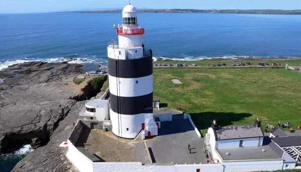 Hook Head lighthouse located in scenic Hook Peninsula.