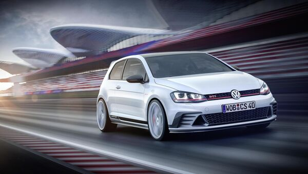 The German carmaker said orders have been increasing but subject to future developments. Pictured: Volkswagen GTI Clubsport.
