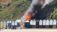Bournemouth beach hut fire