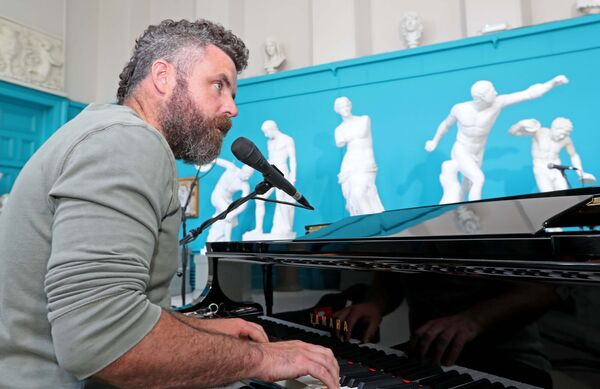 Mick Flannery, during Other Voices; Courage', in the Sculpture Gallery, at the Crawford Art Gallery, Emmet Place, Cork.Picture: Jim Coughlan.