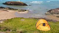 Tent in Ring of Kerry coast