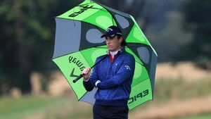 Renato Paratore defies rainy weather to set clubhouse target at British Masters