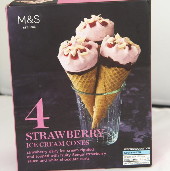 M&S strawberry ice cream cones Picture Dan Linehan