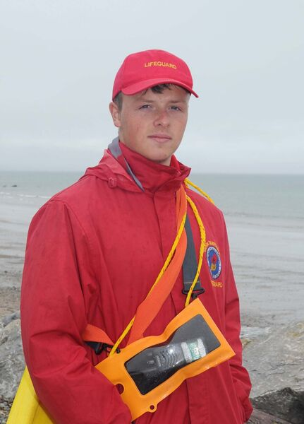 John Walshe, a lifeguard at Garryvoe beach in Co Cork. Picture:  Denis Minihane