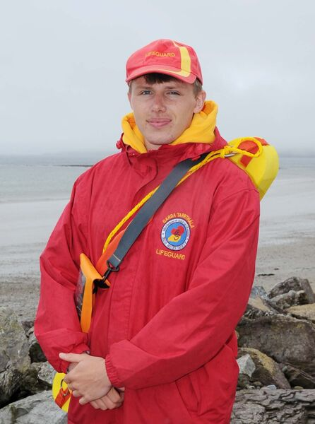 James Walshe, a lifeguard at Garryvoe beach in Co Cork. Picture: Denis Minihane