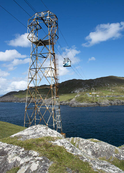Dursey Island: Europe's only cross-sea cable car brings visitors to the island.