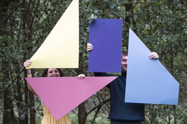 Design Pop festival director Amy McKeogh and CCAE architecture student James Pearce bringing a splash of colour to Cork for Design Pop. Picture: Clare Keogh