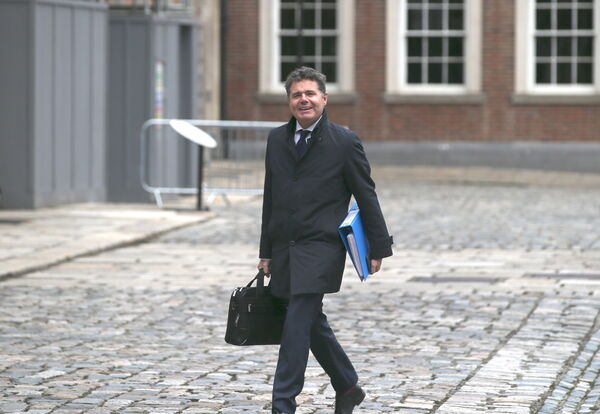 Minister for Finance Paschal Donohoe TD arriving for the Cabinet Meeting in Dublin Castle this afternoon. Picture: Stephen Collins /Collins Photos Dublin