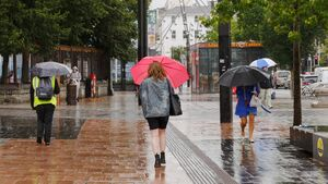 Cooler temperatures and lots of rain expected for bank holiday weekend