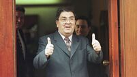 SDLP leader John Hume is in buoyant mood, 21 May,