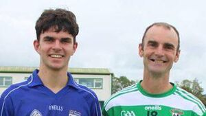 Who claimed the bragging rights when father and son met in a Galway championship tie?