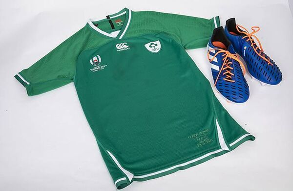 Conor Murray's rugby shirt and boots from the Rugby World Cup 2019.