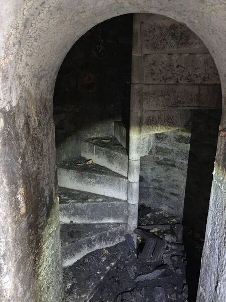 A stone staircase leading to the top of the fort's walls. Picture: John Crotty Spike Island Manager