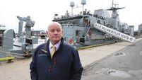 Naval ship docks in Galway for use as Covid-19 test centre