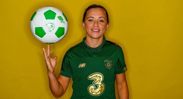 Katie McCabe: A chance of revenge in the Euros against Greece in the return game at Tallaght in front of what could be a record attendance is foremost in the Irish player's mind.	Picture: Brendan Moran