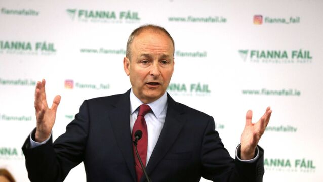Leader of Fianna Fáil, Micheal Marti,n at the launch of the Fianna Fáil Local Election Manifesto in the Iveagh Garden Hotel, Harcourt Street, Dublin. Photo: Sam Boal/Rollingnews.ie