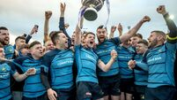 Bryan McLaughlin lifts the trophy 25/1/2020