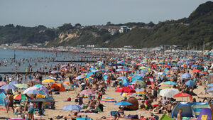 Hundreds pack onto British beaches as temps forecast to hit 37C