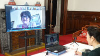 Teleconference between NI first and deputy minister with Chinese consul general