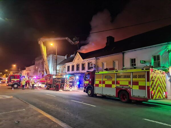 Cork County Fire Service battled a serious fire on Main Street in Midleton overnight.