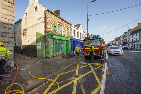 The Post Office on Main Street, Midleton, Co Cork, which was gutted by fire in the early hours of Wednesday morning. Picture Dan Linehan