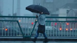 Rain warning for seven southern counties