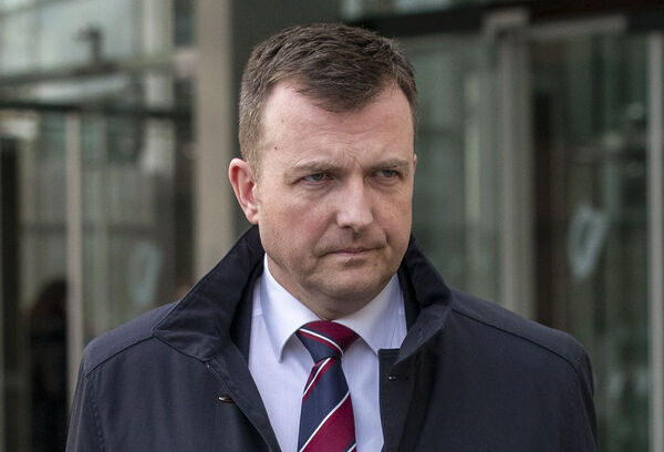 During legal argument in the trial, Detective Inspector Mark Phillips (pictured) revealed that Ms Staunton had been contacted prior to giving evidence by Mr Brady's wife Danielle Healy. Picture: Collins