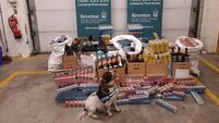 Revenue seize cigarettes and alcohol found in two vans at Dublin Port