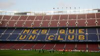 Soccer - UEFA Champions League - Round of 16 - Second Leg - Barcelona v Arsenal - Barcelona Training - Nou Camp
