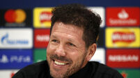 Atletico Madrid Training Session and Press Conference - Anfield