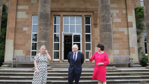 Boris Johnson meets political leaders on visit to Northern Ireland