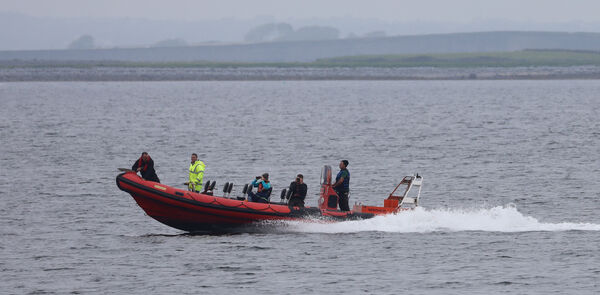 Part of the search and rescue operation off the Galway coast in search for the two missing paddleboarders who were found today. Picture: Paddy Cummins/IrishPhotodesk.ie